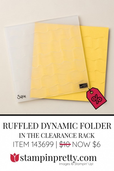 Clearance Ruffled Dynamic Impressions Embossing Folder 143699