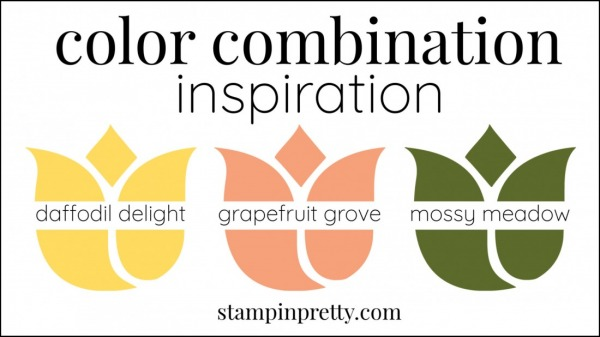Color Combinations Grapefruit Grove, Daffodil Delight, Mossy Meadow