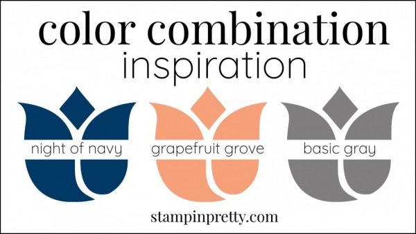 Color Combinations Grapefruit Grove, Night of Navy, Basic Gray