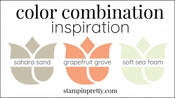 Color Combinations Grapefruit Grove, Sahara Sand, Soft Sea Foam