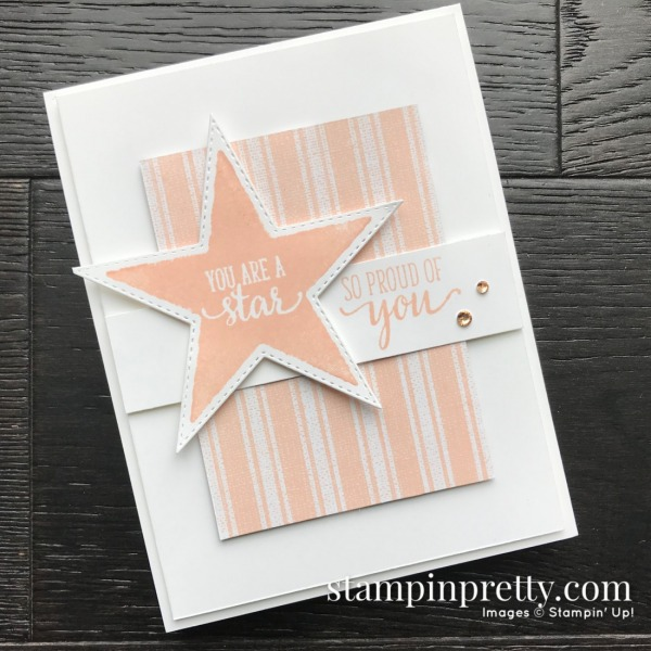 Create this card using the Morning Star Stamp Set by Stampin' Up! Card by Mary Fish, Stampin' Pretty Free Tutorial