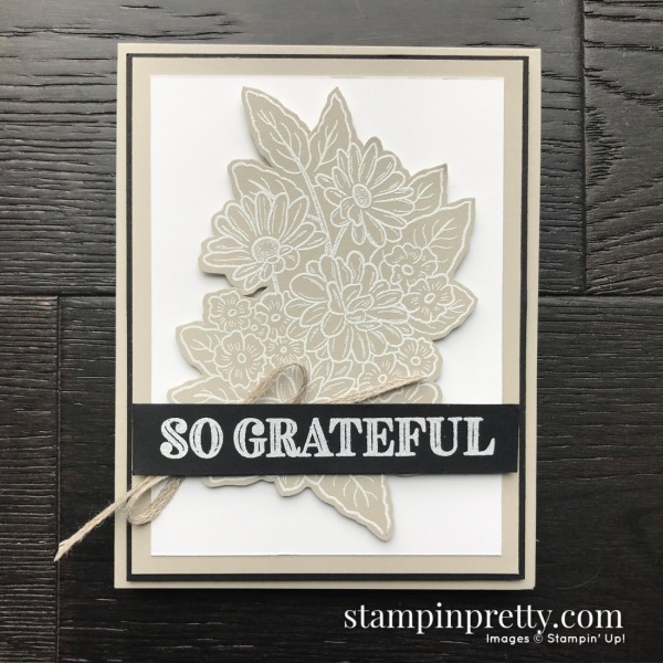 Create this card using the Ornate Style and Ornate Thanks Stamp Set by Stampin' Up! Card by Mary Fish, Stampin' Pretty