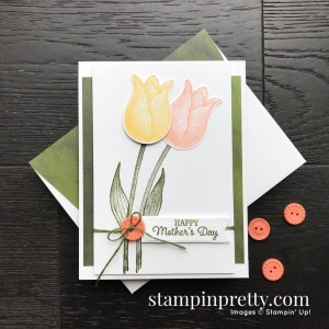 Create this card using the Timeless Tulips Bundle from Stampin' Up! Card by Mary Fish, Stampin' Pretty