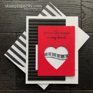 Create this handmade card using the Music From the Heart Stamp Set by Stampin' Up! Card by Mary Fish, Stampin' Pretty