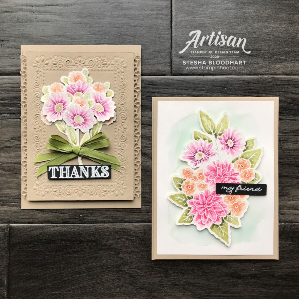 Ornate Garden Suite by Stampin' Up! Early Release, Artisan 2020 Blog Hop, Cards by Stesha Bloodhart, Stampin' Hoot!