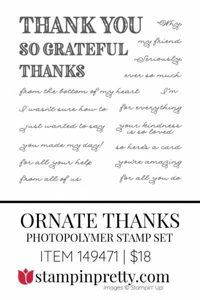 Ornate Thanks Stamp Set 149471 by Stampin' Up!