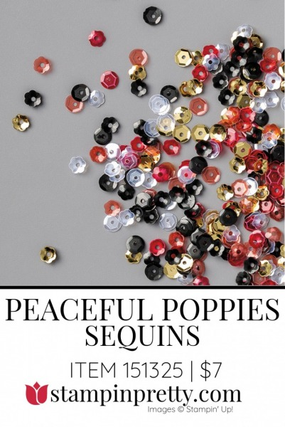 Peaceful Poppies Sequins by Stampin' Up! 151325