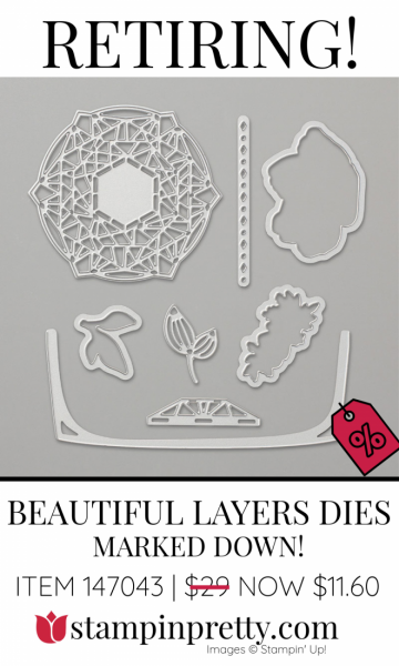Retiring Beautiful Layers Dies Stampin' Up! Marked Down