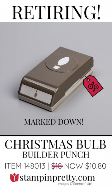 Retiring Christmas Buld Builder Punch Stampin' Up! Marked Down 148013