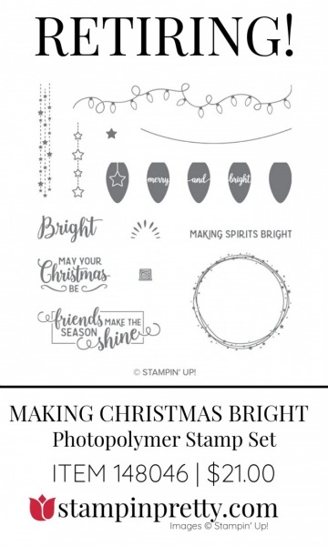 Retiring Making Christmas Bright Stamp Set by Stampin' Up! 148046