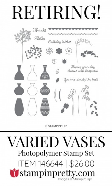 Retiring Varied Vases 146644 Stampin' Up! Stamp Set
