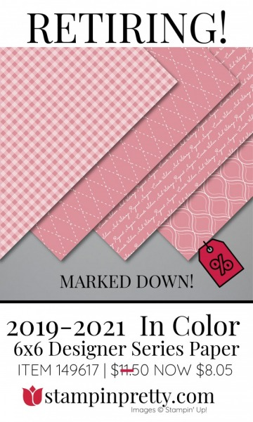 2019-2021 In Color 6x6 DSP Retiring - Marked Down $8.05- Stampin' Up! (1)
