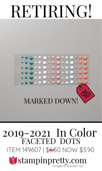 2019-2021 In Color Faceted Dots Retiring - Marked Down $3.90- Stampin' Up!