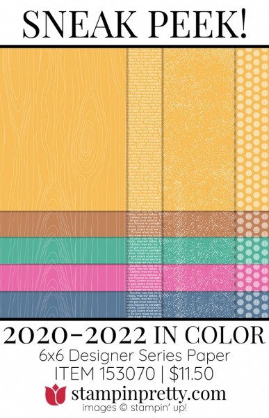 2020-2022 In Color 6x6 DSP by Stampin' UP! 153070
