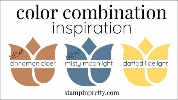 Color Combinations Misty Moonlight, Cinnamon Cider, Daffodil Delight