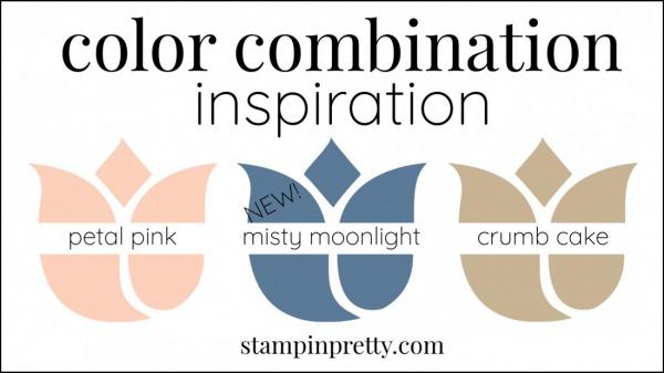 Color Combinations Misty Moonlight, Petal Pink, Crumb Cake