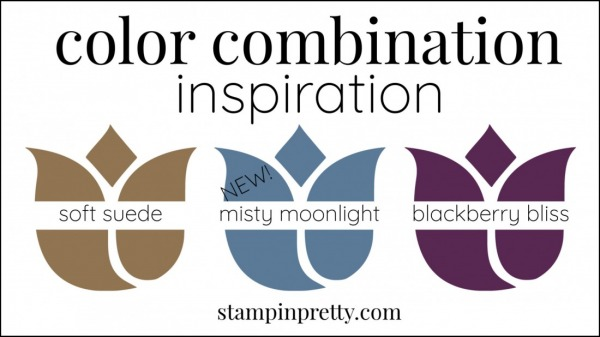 Color Combinations Misty Moonlight, Soft Suede, Blackberry Bliss