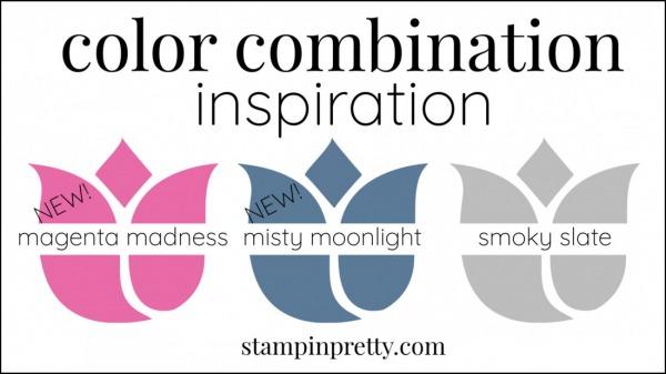 Color Combinations Misty Moonlight, magenta madness, smoky slate