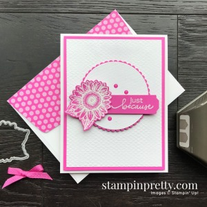 Create this card using the Celebrate Sunflowers and Lovely You Bundles from Stampin' UP!@ Card by Mary Fish, Stampin' Pretty