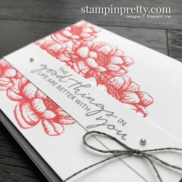 Create this card using the Tasteful Touches Stamp Set From Stampin' Up! Card by Mary Fish, Stampin' Pretty