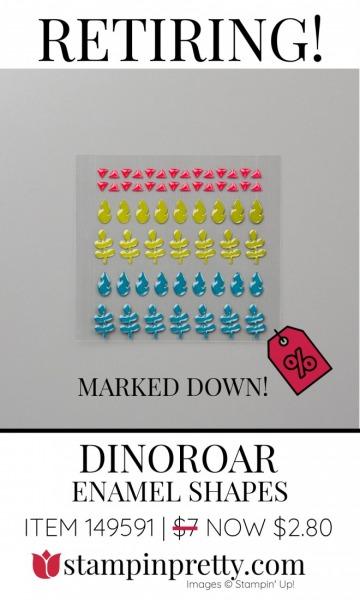 DINOROAR Enamel Shapes - Retiring - Marked Down $2.80 - Stampin' Up