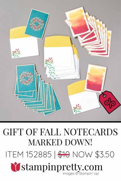 Gift of Fall Notecards by Stampin' Up! 152885 $3.50