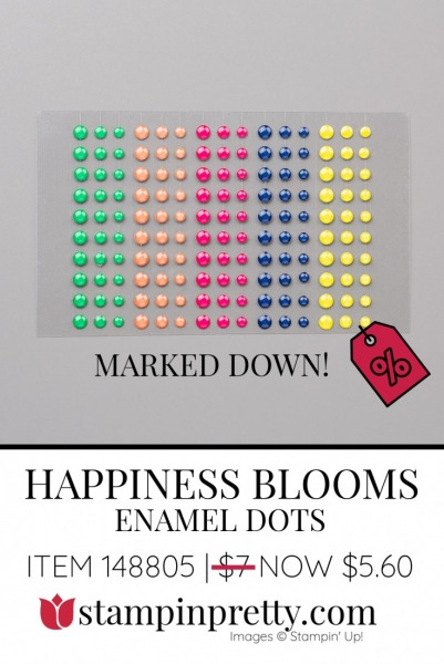 Happiness Blooms Enamel Dots by Stampin' Up! 148805 $5.60