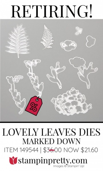 Lovely Leaves Dies Retiring - Marked Down $21.60- Stampin' Up!