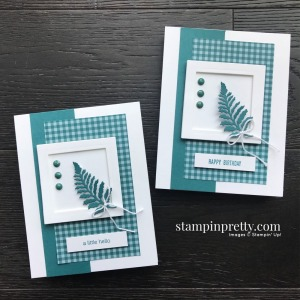 Pretty Peacock In Color by Stampin' Up! Card by Mary Fish, Stampin' Pretty. Retiring Products