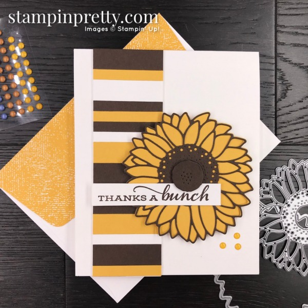 SNEAK PEEK! Celebrate Sunflowers Bundle from Stampin' Up! Card by Mary Fish, Stampin' Pretty