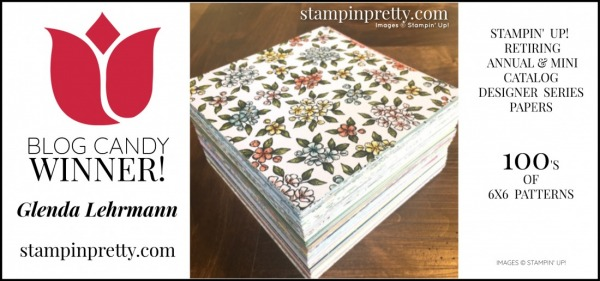 STAMPIN' UP! DSP - BLOG CANDY WINNER