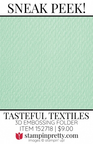 Tasteful Textile 3D Embossing Folder by Stampin' UP! 152718