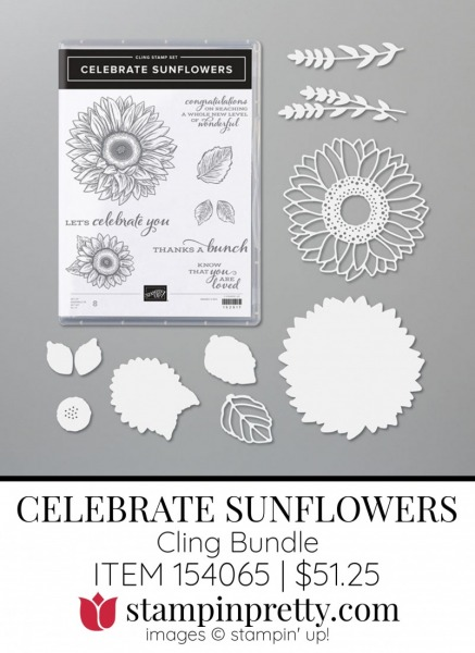 Celebrate Sunflowers Bundle by Stampin' Up! Item 154065 Shop with Mary Fish, Stampin' Pretty