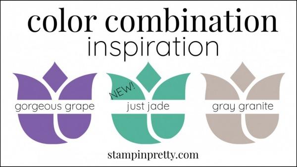 Color Combinations Just Jade Gorgeous Grape, Gray Granite