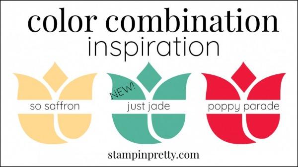 Color Combinations Just Jade So Saffron, Poppy Parade