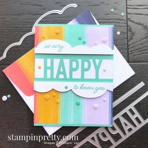 Create this card using the So Much Happy Bundle from Stampin' Up! Card exclusive to customers of Mary Fish, Stampin' Pretty