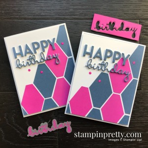 Magenta Madness & Misty Moonlight from Stampin' Up! Happy Birthday Card by Mary Fish, Stampin' Pretty