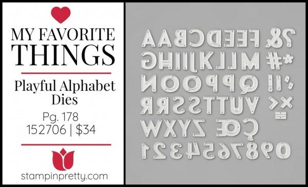 My Favorite Things - Playful Alphabet Dies