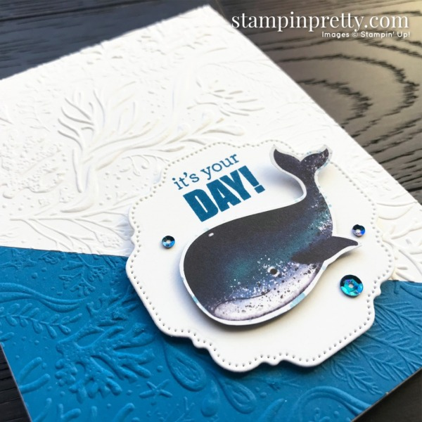 Whale of A Time Suite Collection by Stampin' Up! Card by Mary Fish, Stampin' Pretty_