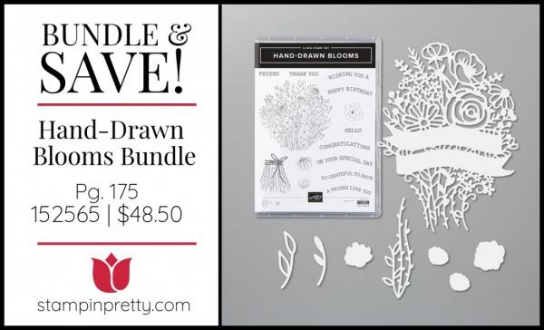Bundle & Save Hand-Drawn Blooms Bundle 152565 $48.50 from Stampin' UP!