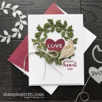 Create this LOVE card using the Arrange a Wreath Bundle by Stampin