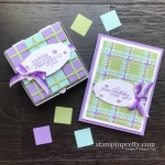 Create this Mini Pizza Box with Scraps from the Best Year Bundle Best Plaid Builder from Stampin