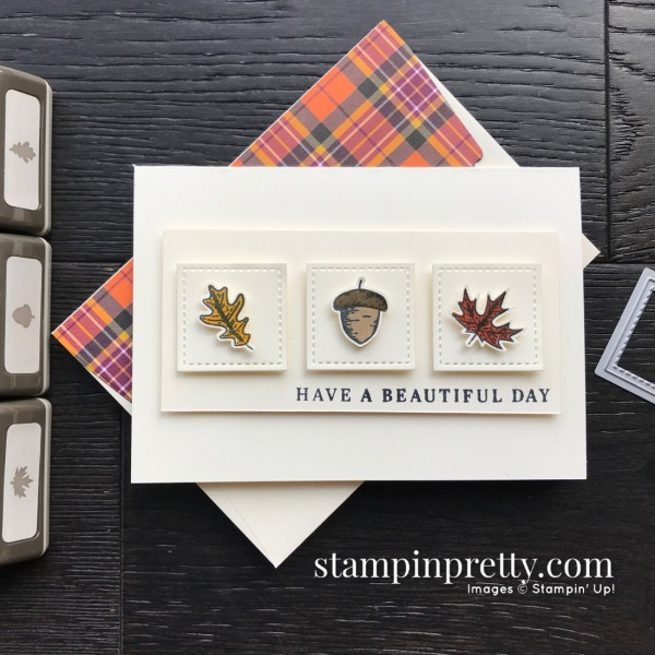 Create this card using the Beautiful Autumn Bundle from Stampin' Up! Note card created by Mary Fish, Stampin' Pretty