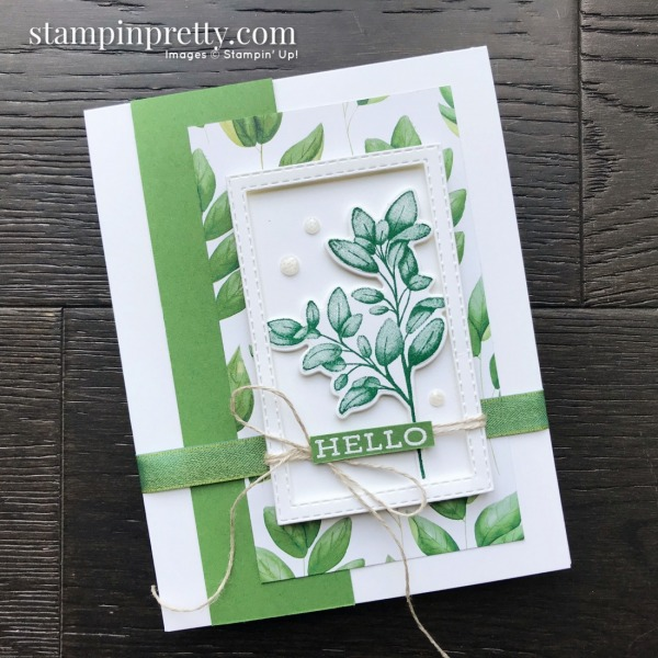 Create this card using the Forever Fern Bundle by Stampin' Up! Card created by Mary Fish, Stampin' Pretty (1)