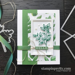 Create this card using the Forever Fern Bundle by Stampin' Up! Card created by Mary Fish, Stampin' Pretty