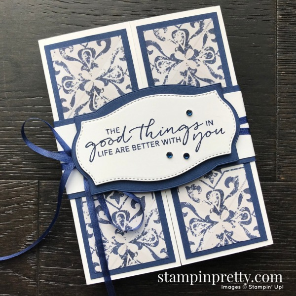 Create this card using the In Good Taste Suite, Tasteful Touches Bundle by Stampin' Up! Card my Mary Fish, Stampin' Pretty (1)