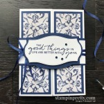 Create this card using the In Good Taste Suite, Tasteful Touches Bundle by Stampin