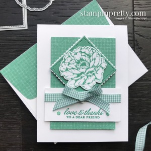 Create this card using the Prized Peony Bundle from Stampin' Up! Card by Mary Fish, Stampin' Pretty.