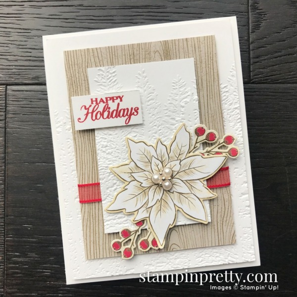 SNEAK PEEK! Poinsettia Place Suite from Stampin' Up! Card by Mary Fish, Stampin' Pretty!