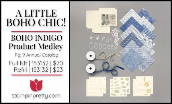 Boho Indigo Product Medley by Stampin' Up! 153132 pg 9
